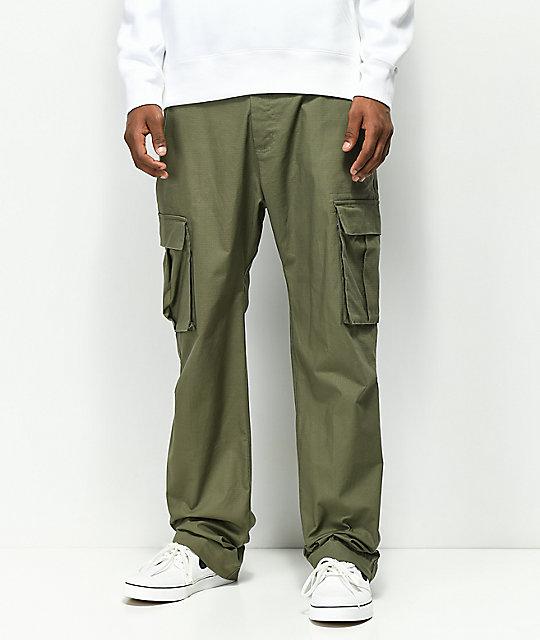 0acad73c053 Nike SB FTM Olive Cargo Pants | Zumiez