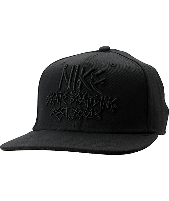 Nike SB Fabric Black Snapback Hat