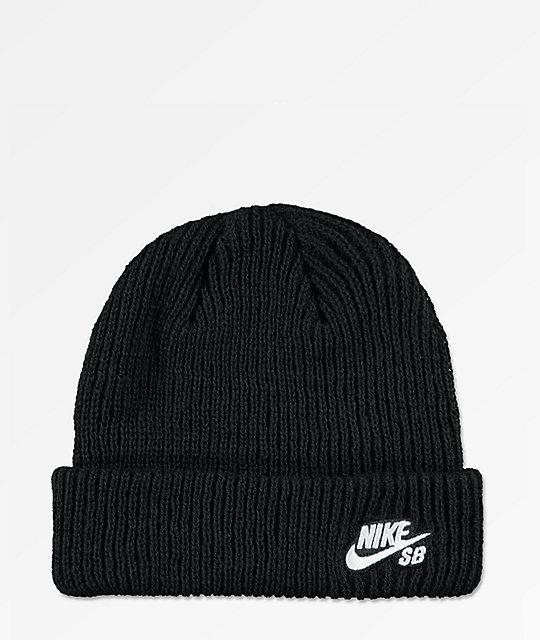 452257865 Nike SB Fisherman Black Beanie