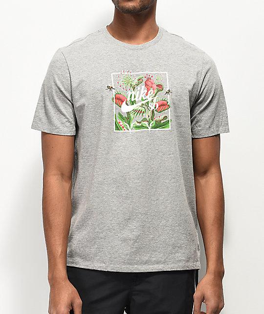 5ab81f74305b Nike SB Floral Flytrap Grey T-Shirt