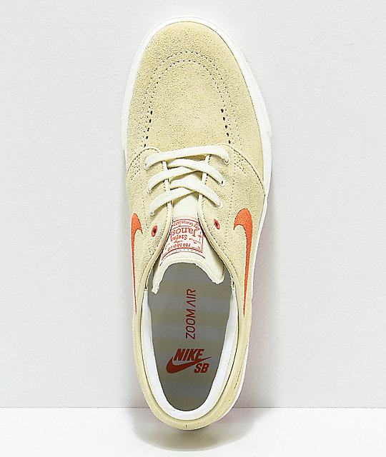 Nike SB Fossil & Coral Suede Skate Shoes