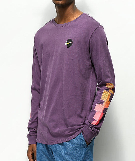 281e3b98 Nike SB Globe Purple Long Sleeve T-Shirt | Zumiez