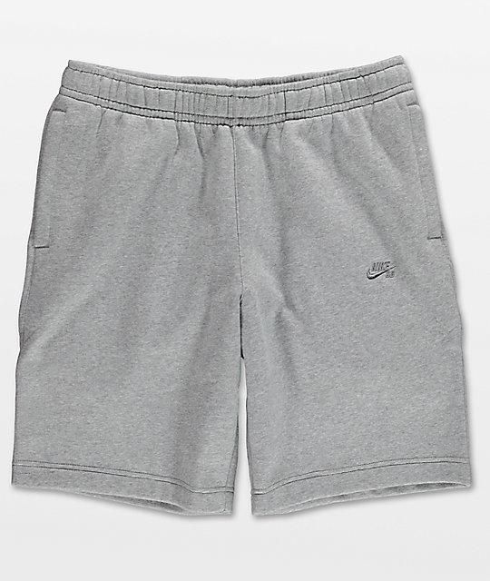 nike fleece grey shorts