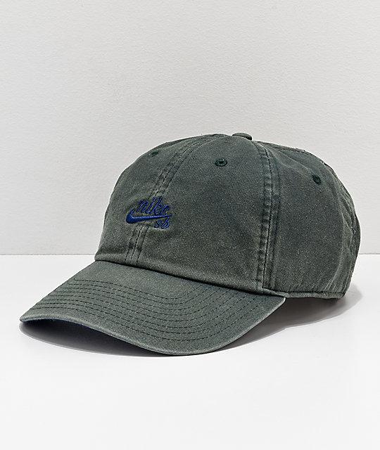 1566e53e99f Nike SB H86 Icon Green Strapback Hat
