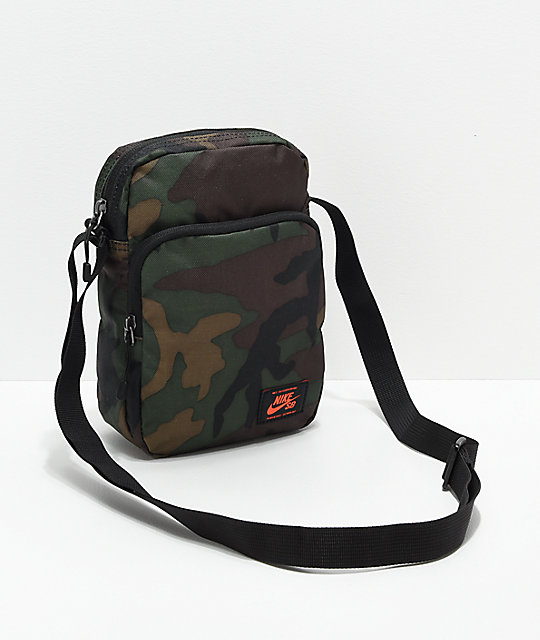 72c76eb20318 Nike SB Heritage Iguana Green Camo Shoulder Bag