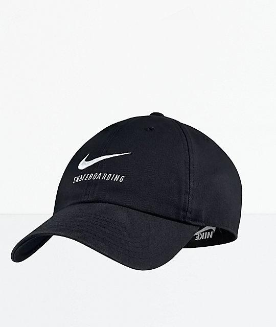 6c97753166b Nike SB Heritage86 Black Strapback Hat