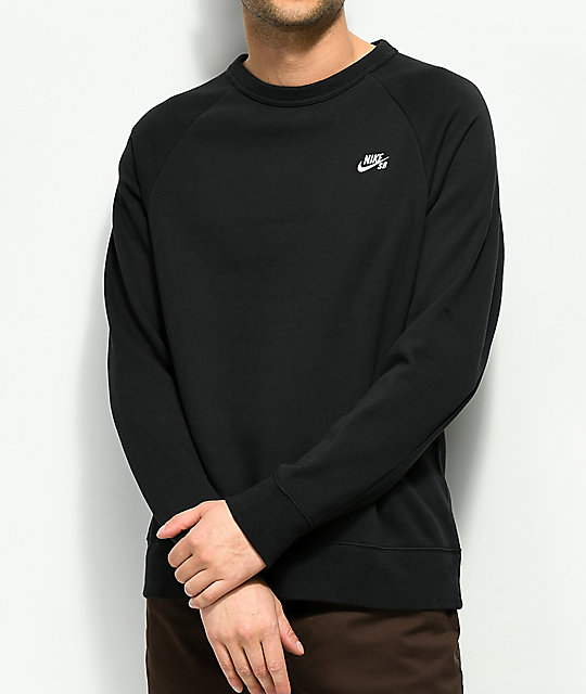 Nike SB Icon Black Crew Neck Sweatshirt