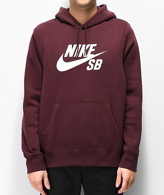 Nike SB Icon Burgundy Crush Hoodie