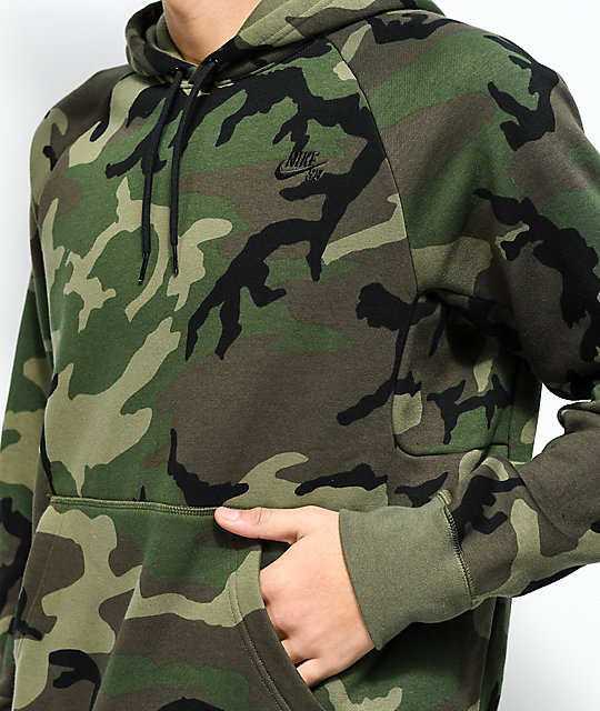 affordable price exclusive shoes the sale of shoes Nike SB Icon Camo Hoodie