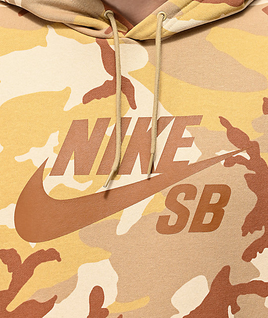 0849664d Nike SB Icon Desert Camo Hoodie   Zumiez