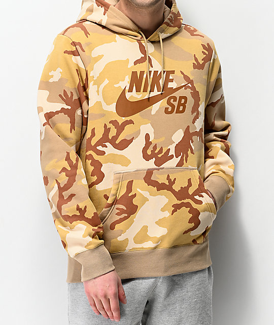 where to buy on feet shots of the best Nike SB Icon Desert Camo Hoodie