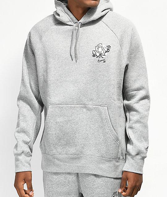 933424c8793b Nike SB Icon Flower Grey Hoodie