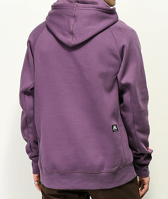 Nike SB Icon Graphic Purple Hoodie