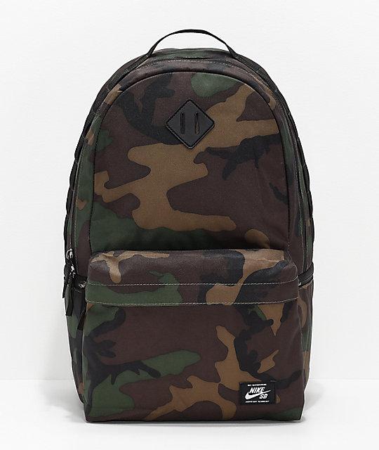 4318f3769dbc Nike SB Icon Iguana Green Camo Backpack