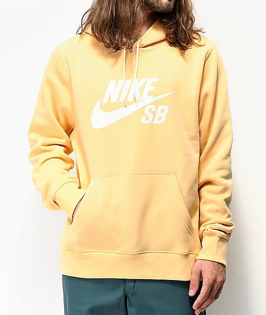 Nike SB Icon Light Yellow Hoodie