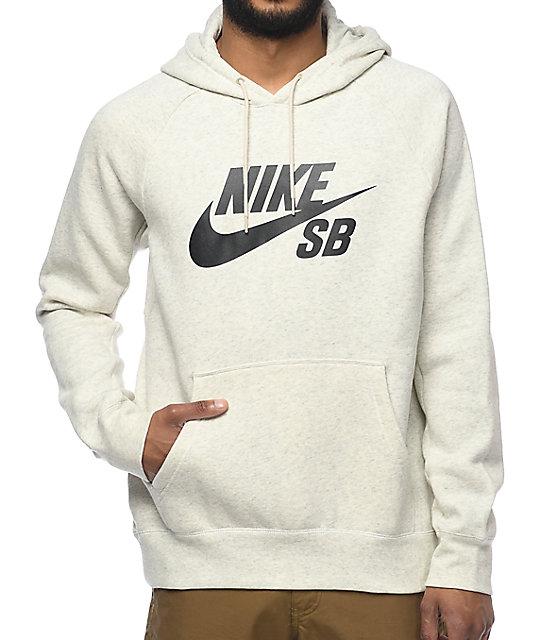 0633dd8a1fe1d Nike SB Icon Oatmeal Hoodie | Zumiez
