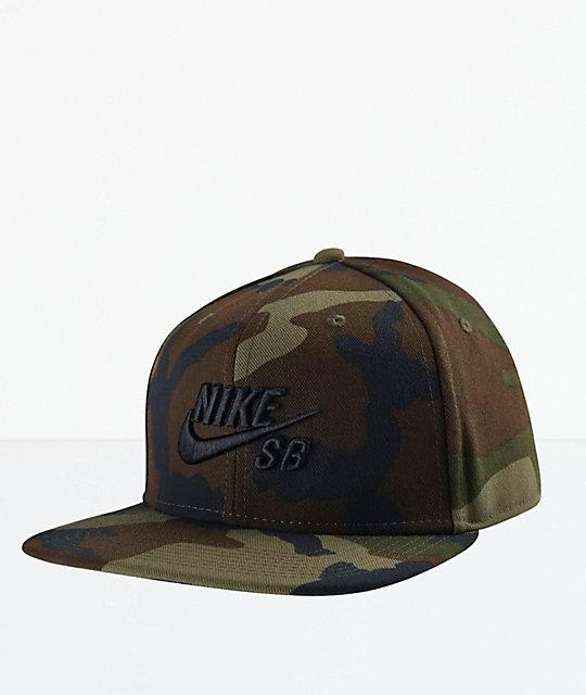 detailed look 6dc8b 0b067 Nike SB Icon Pro Camo Snapback Hat   Zumiez.ca