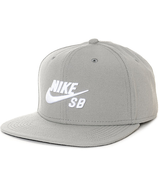 016dcb754 Nike SB Icon Pro Dust & Black Snapback Hat