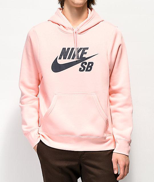 Nike SB Icon Storm sudadera con capucha rosa