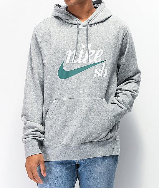 Nike SB Icon Washed Grey Hoodie