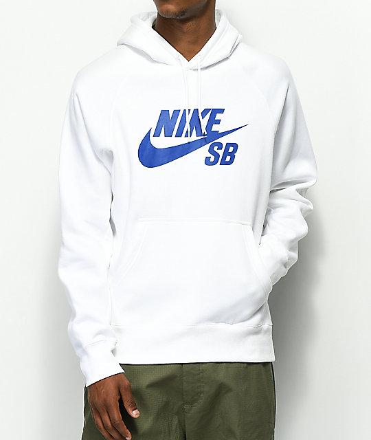 a7936d3205460 Nike SB Icon White Hoodie | Zumiez