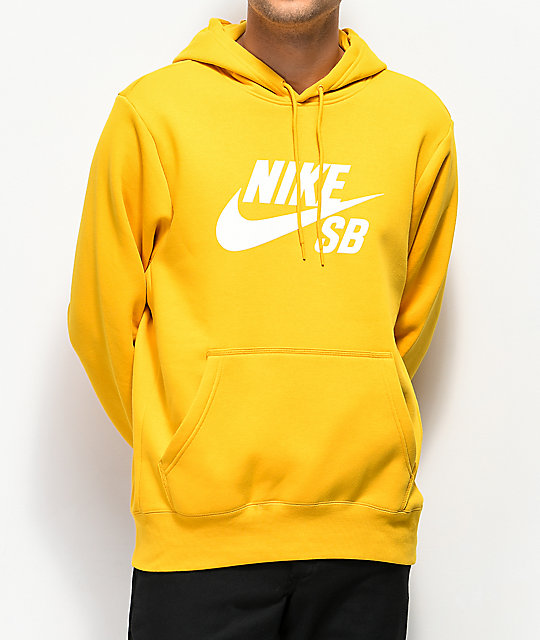 incredible prices good super cute Nike SB Icon Yellow Ochre Hoodie
