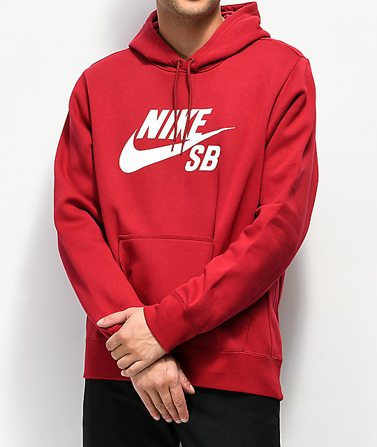 diseño hábil navegar por las últimas colecciones muchas opciones de Nike SB Icon sudadera con capucha roja