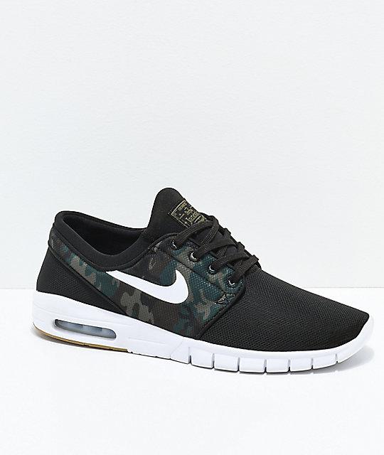 Nike SB Janoski Air Max Black   Camo Mesh Skate Shoes  e6c96ee7e
