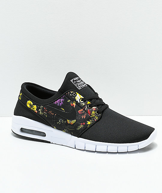 Nike SB Janoski Air Max Black   Floral Shoes  85b772e52a2d