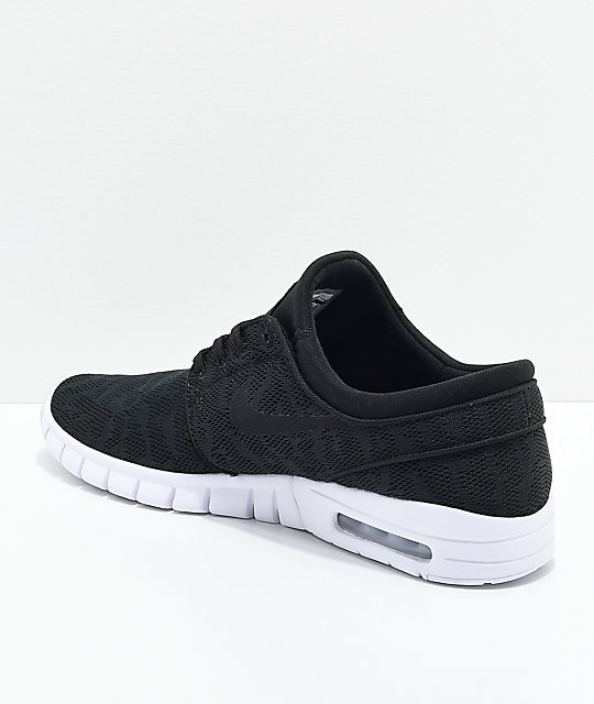 Nike SB Janoski Air Max Black & White Skate Shoes