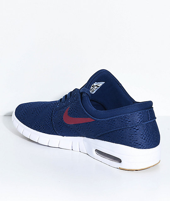 Nike SB Janoski Air Max Blue, Red & Gum Skate Shoes