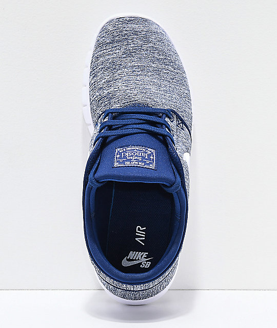 watch bc6a6 cfcc2 ... Nike SB Janoski Air Max Blue Void   White Skate Shoes ...
