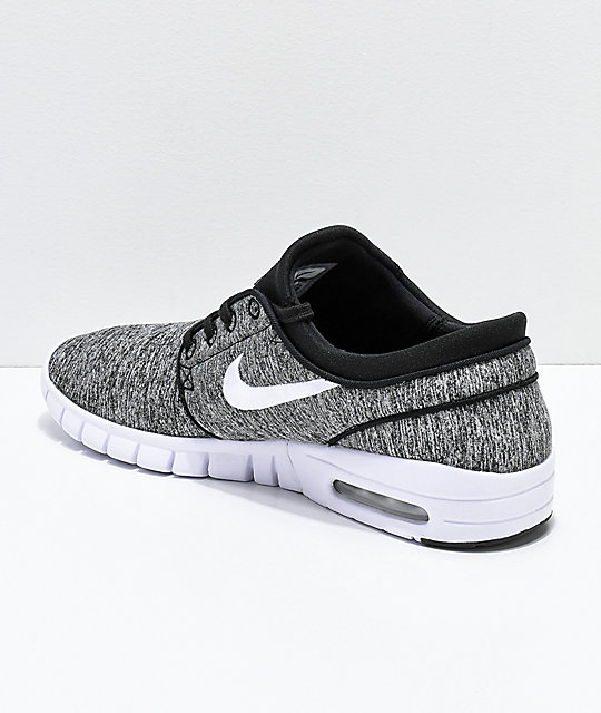 detailed look 4c53b 55a00 ... Nike SB Janoski Air Max Heather Grey Skate Shoes ...