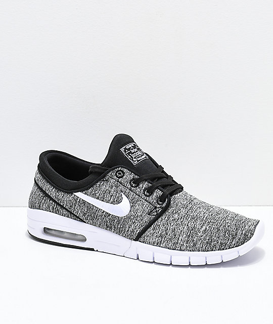 f03752613a9b Nike SB Janoski Air Max Heather Grey Skate Shoes