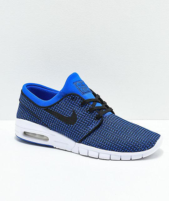 Nike SB Janoski Air Max Hyper Royal Blue & White Skate Shoes