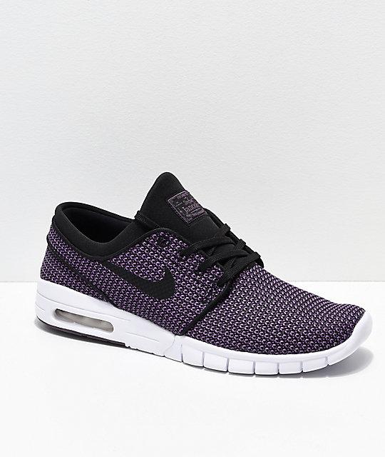 sprawdzić sklep Wielka wyprzedaż Nike SB Janoski Air Max Purple & White Skate Shoes
