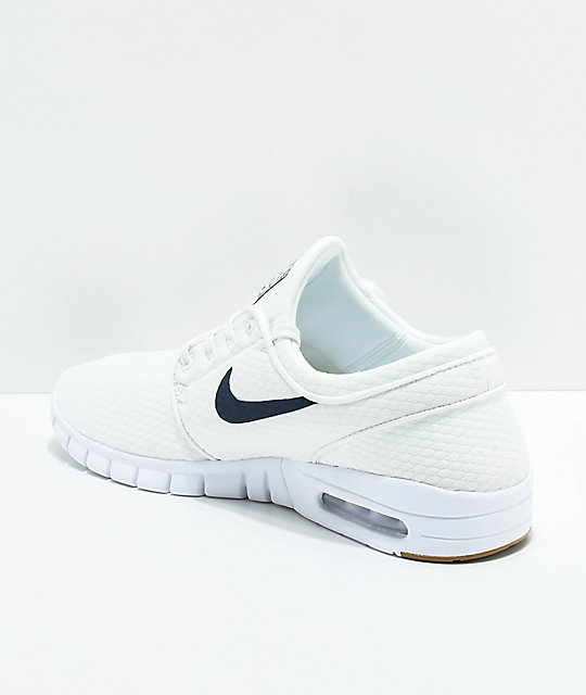 dae9c6464e ... Nike SB Janoski Air Max Quilted Summit White   Thunder Blue Skate Shoes  ...