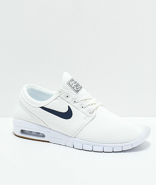 d03479e8c8 Nike SB Janoski Air Max Quilted Summit White   Thunder Blue Skate Shoes