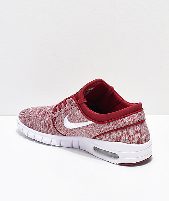 Nike SB Janoski Air Max Red Crush & White Skate Shoes