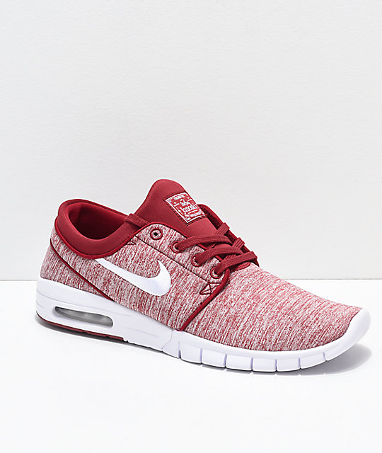 cheap for discount 078ba e8b69 Nike SB Janoski Air Max Red Crush  White Skate Shoes  Zumiez
