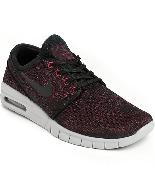 new concept be562 7c578 Nike SB Janoski Air Max Villain Red, Black,   Wolf Grey Shoes   Zumiez