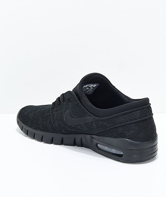 Skate Max Sb De Zapatos Nike Air Janoski Negros 4R5Lcj3Aq