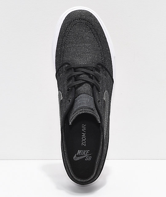 Nike SB Janoski Anthracite & White Canvas Skate Shoes