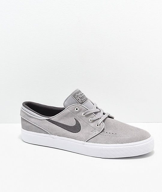 quality design 13ed7 bb059 Nike SB Janoski Atmosphere Grey   White Suede Skate Shoes   Zumiez