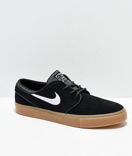 21419155e61d Big deal Nike SB Men Zoom Stefan Janoski Canvas 117749 Black Anthracite Gum  Medium Source · Nike SB Janoski Black   Gum Skate Shoes Zumiez