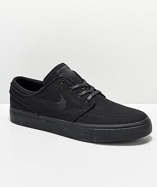 kup popularne najlepiej sprzedający się super tanie Nike SB Janoski Black Canvas Skate Shoes
