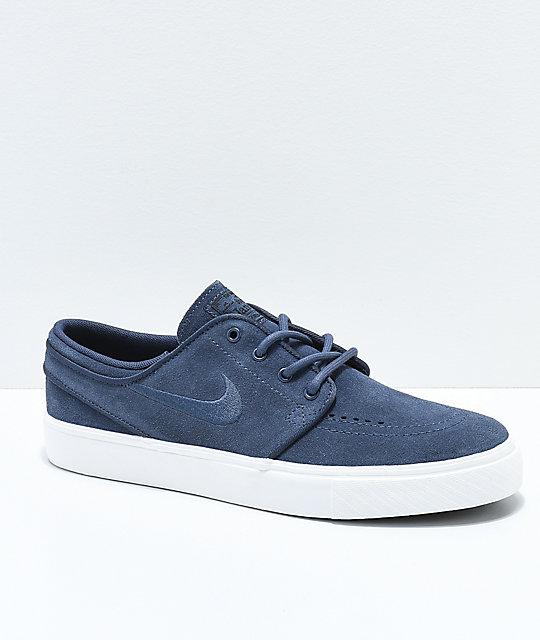 Nike SB Janoski Boys Thunder Blue Skate Shoes ...