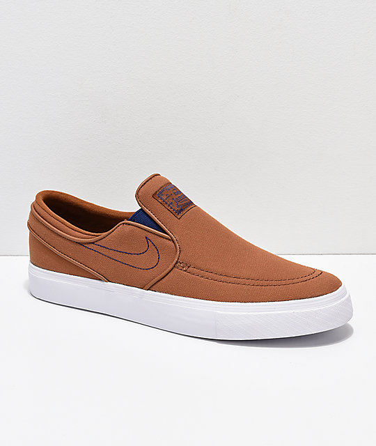 Nike SB Janoski British Slip-On zapatos de skate  lienzo marrón