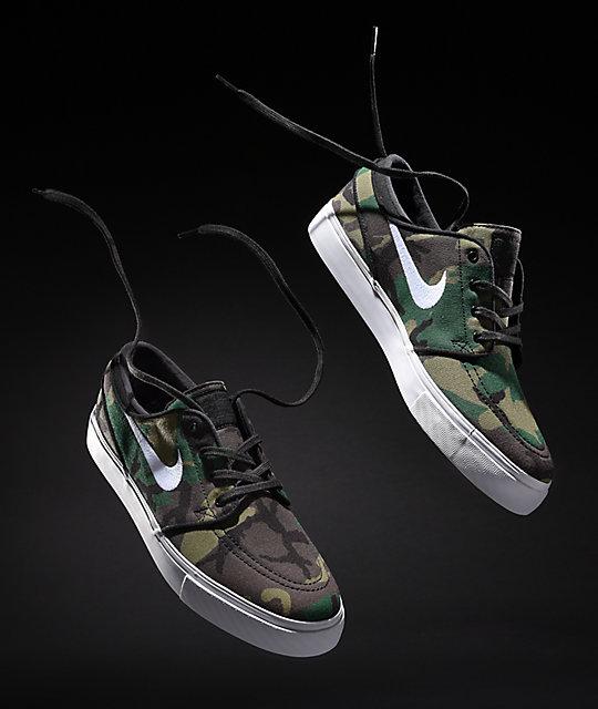Nike Portmore Cnvs Schuhe BlackWhite Camo