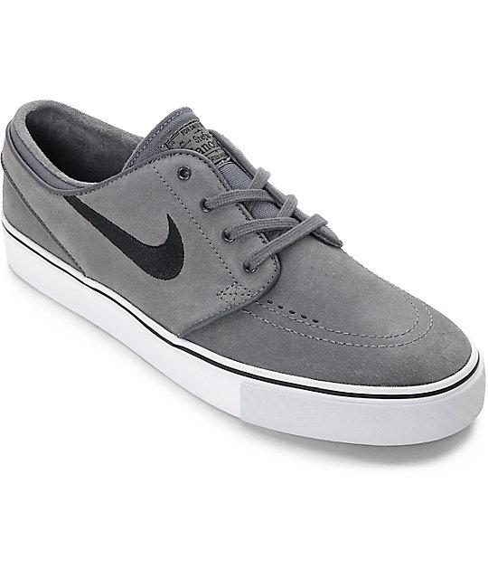 timeless design 1a7eb 1639f Nike SB Janoski Dark Grey  Black Skate Shoes  Zumiez